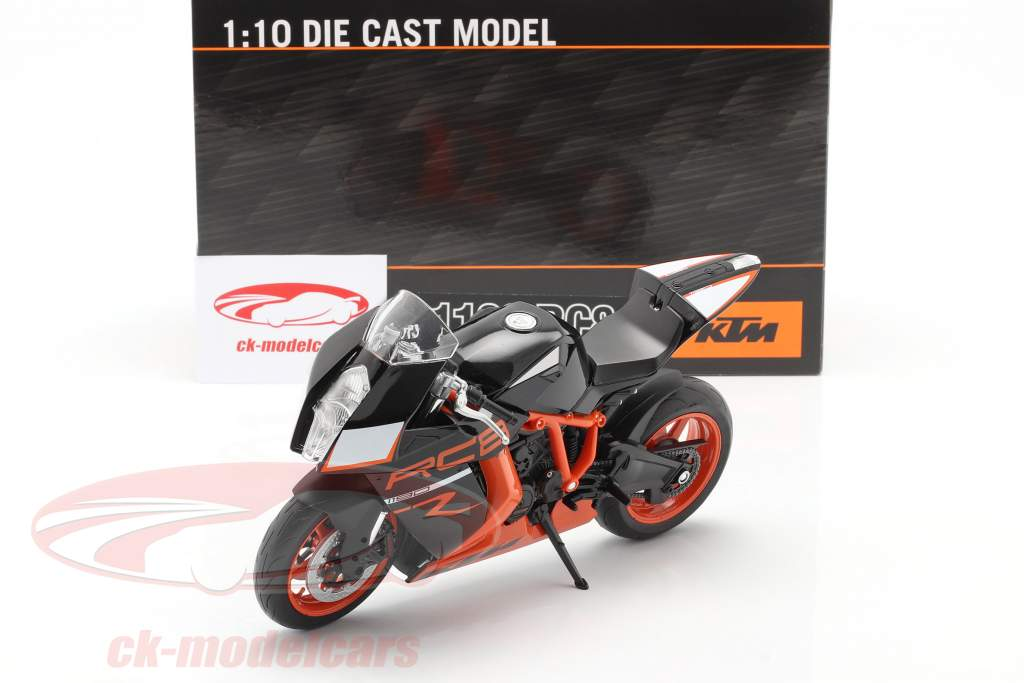 KTM 1190 RC8 R noir / Orange 1:10 Welly