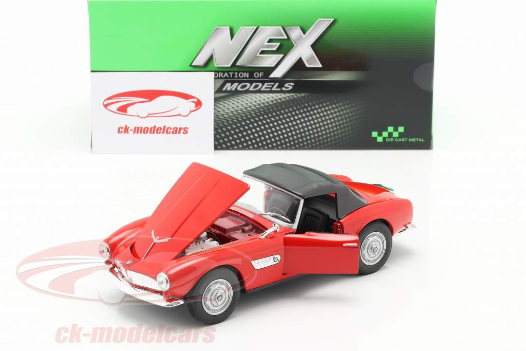 BMW 507 Closed Soft Top rot 1:24 Welly
