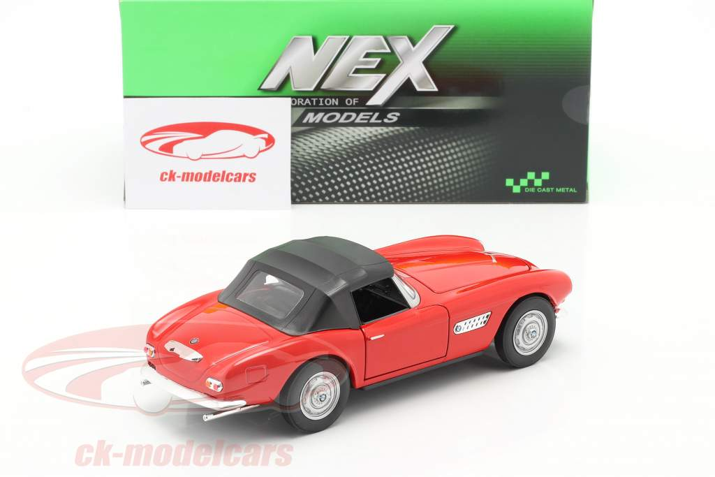 BMW 507 Convertibile Closed Soft Top rosso 1:24 Welly