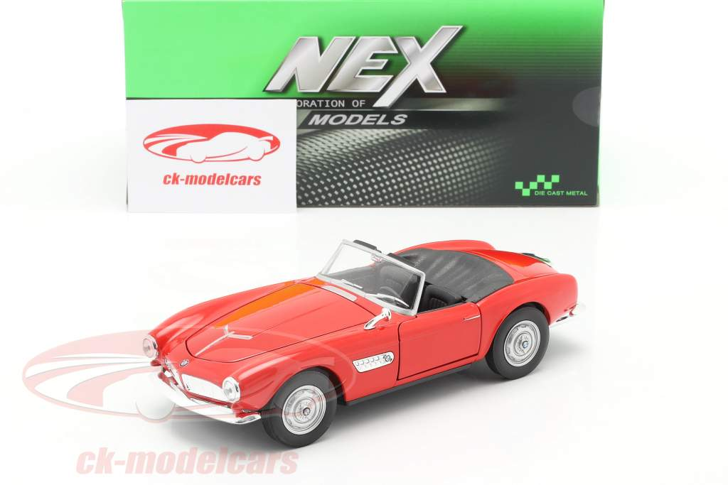 BMW 507 Convertible Open Top rouge 1:24 Welly