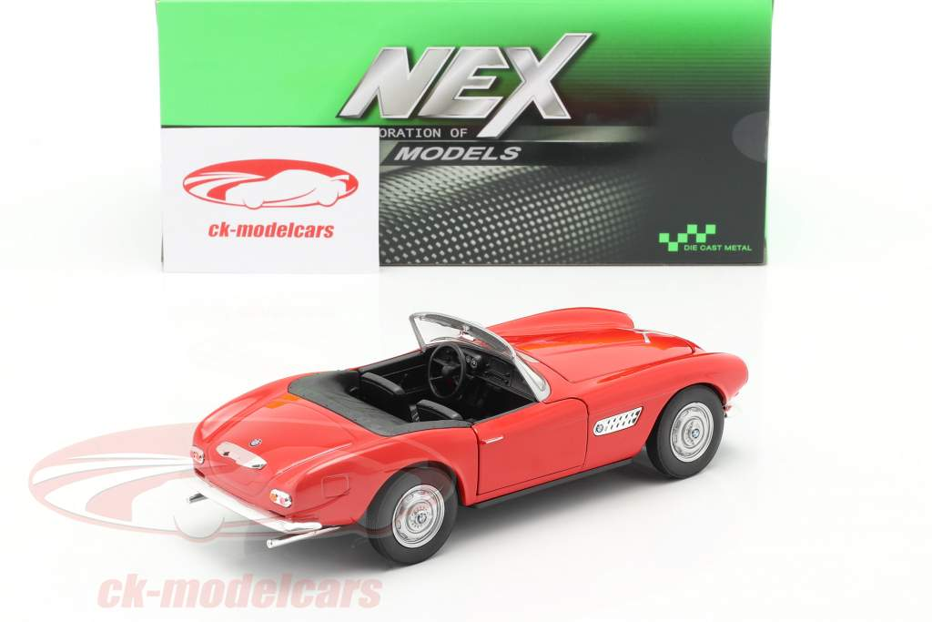 BMW 507 Cabriolet rood 1:24 Welly