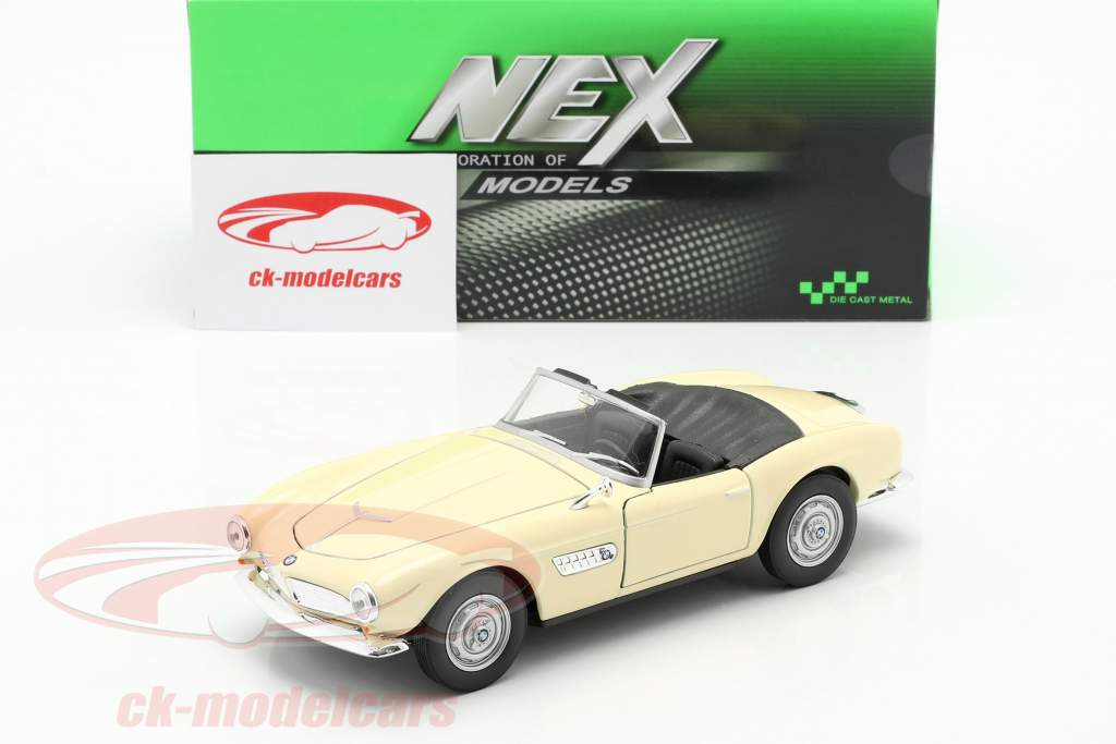 BMW 507 Convertible Open Top cream white 1:24 Welly