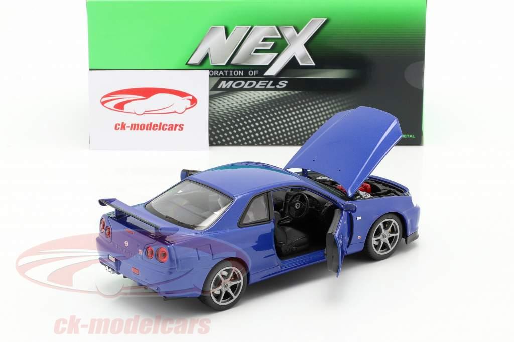 Nissan Skyline GT-R (R34) azul 1:24 Welly