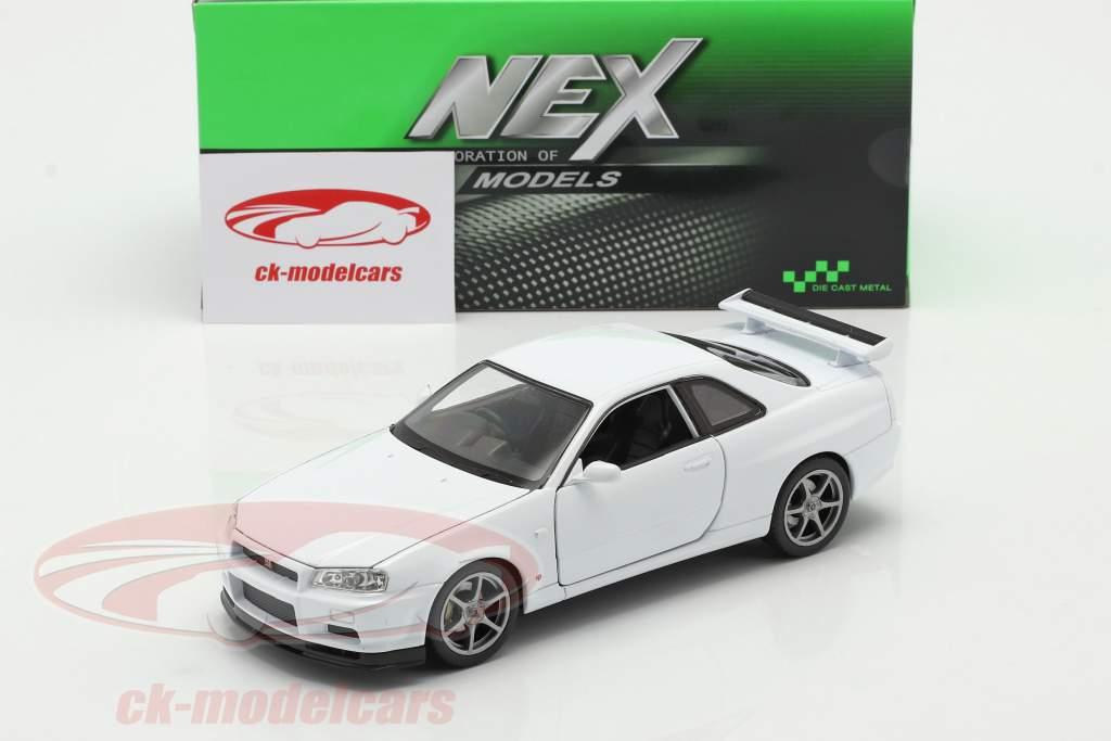 Nissan Skyline GT-R (R34) Wit 1:24 Welly