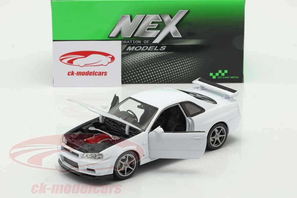 Nissan Skyline GT-R (R34) white 1:24 Welly