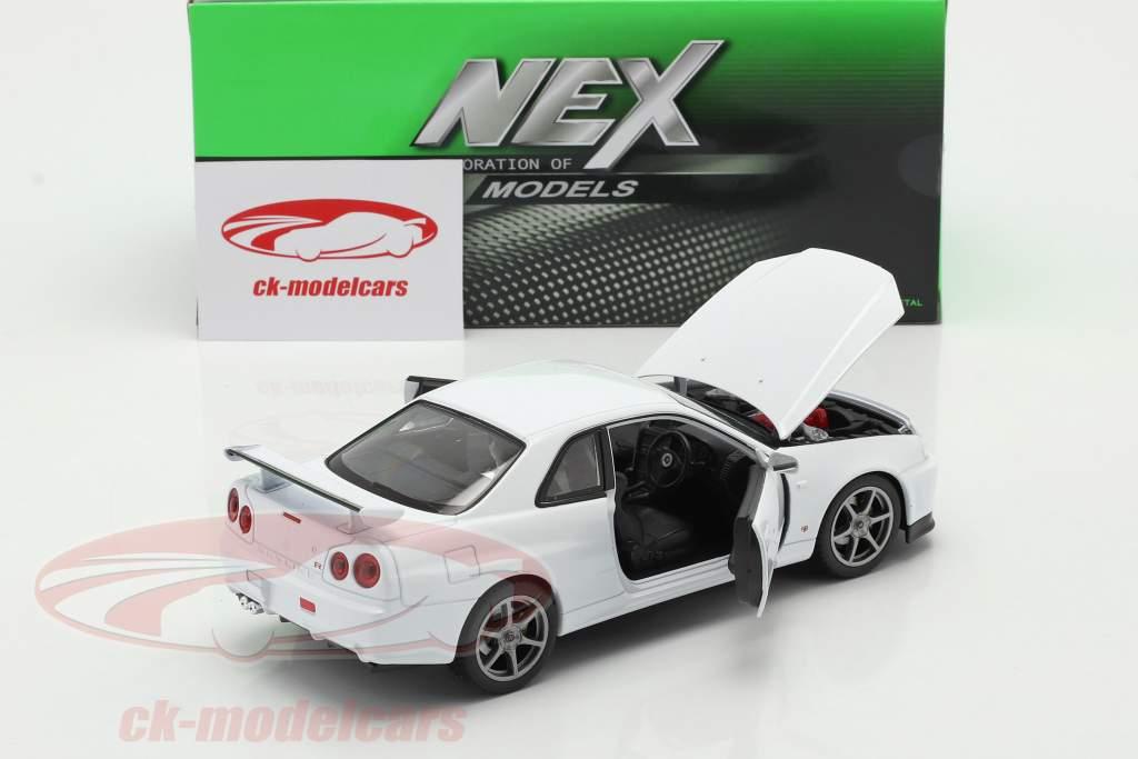 Nissan Skyline GT-R (R34) blanco 1:24 Welly