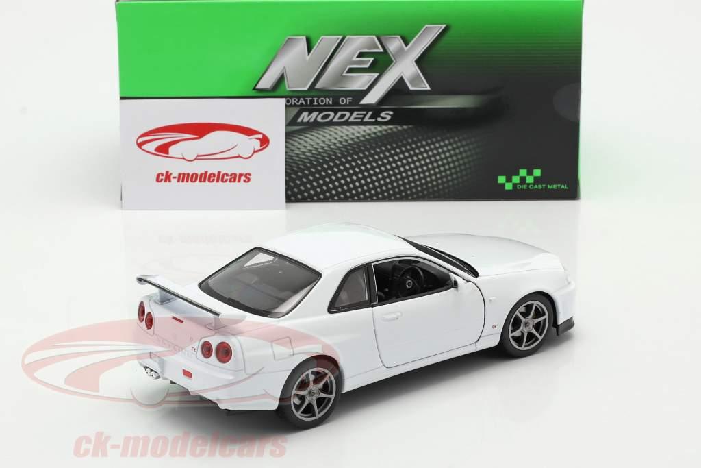 Nissan Skyline GT-R (R34) blanc 1:24 Welly