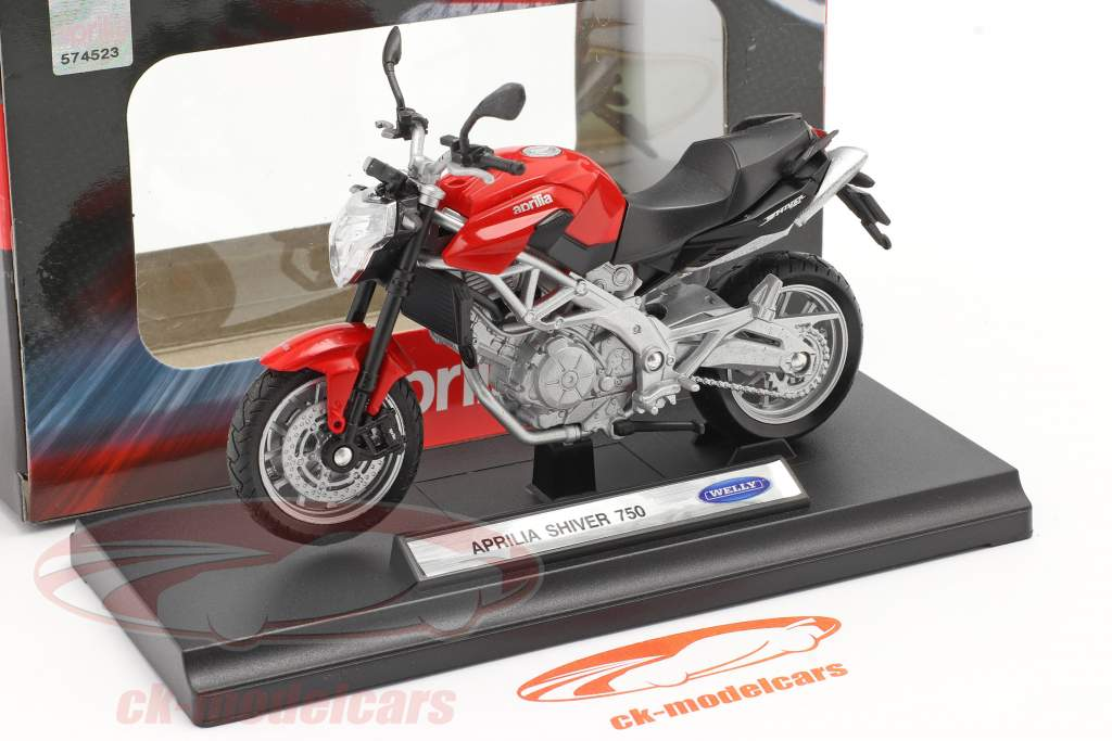 Aprilia Shiver 750 rouge 1:18 Welly