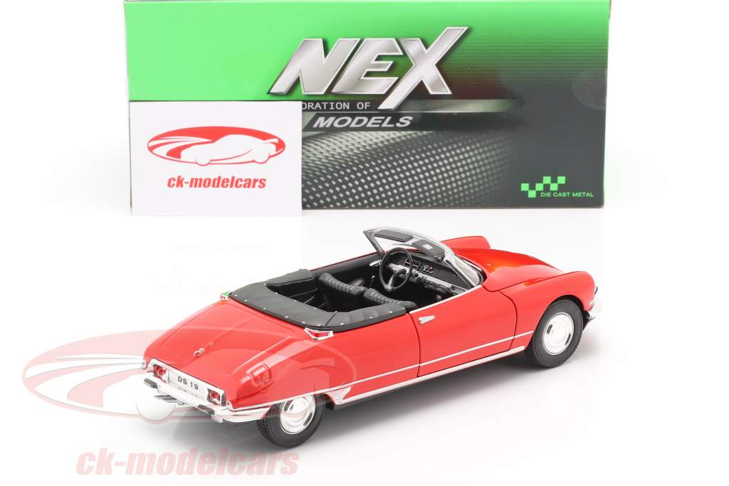 Citroen DS 19 Open Cabriolet rot 1:24 Welly
