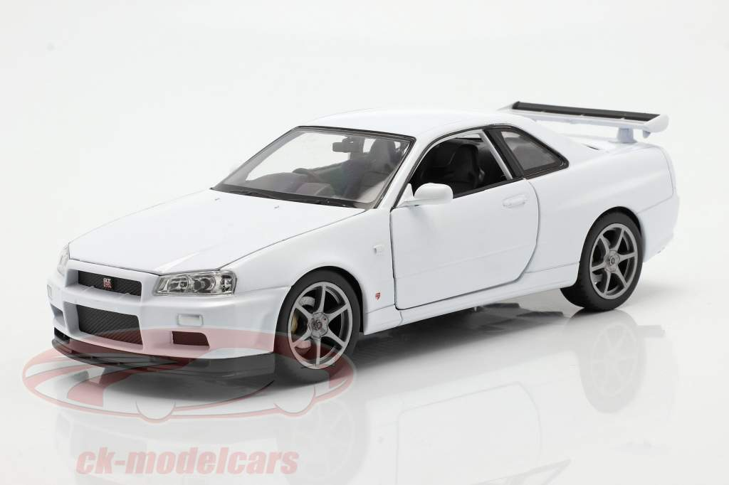 Nissan Skyline GT-R (R34) bianca 1:24 Welly