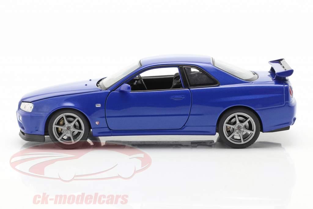 Nissan Skyline GT-R (R34) blau 1:24 Welly