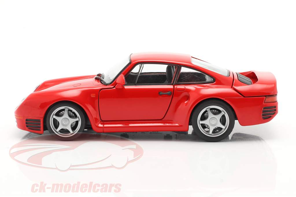 Porsche 959 rød 1:24 Welly
