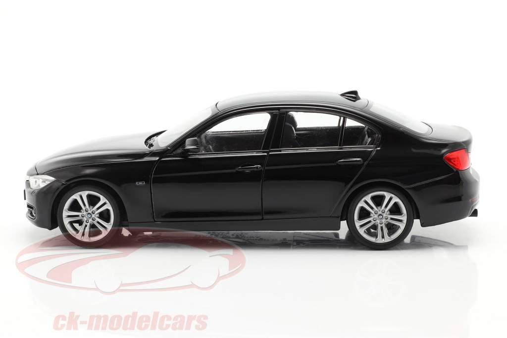 BMW 335i Année de construction 2014 noir 1:24 Welly