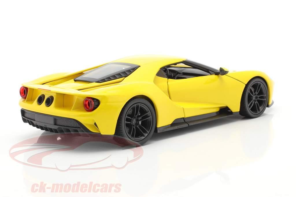 Ford GT Ano de construção 2017 amarelo 1:24 Welly