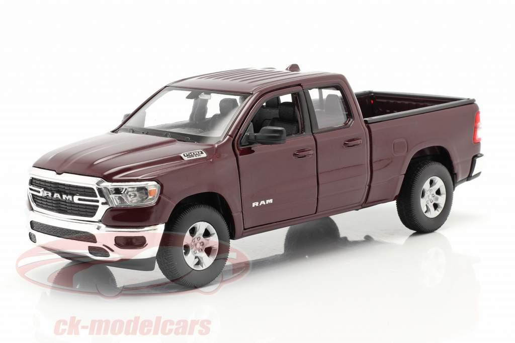 Dodge Ram 1500 Année de construction 2019 foncé rouge-marron 1:24 Welly