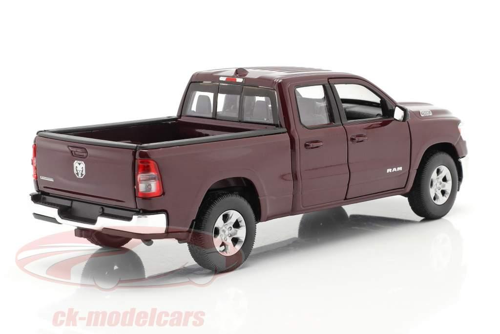 Dodge Ram 1500 Bouwjaar 2019 donker roodbruin 1:24 Welly