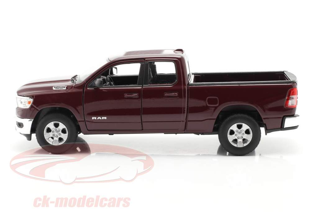 Dodge Ram 1500 Baujahr 2019 dunkel rotbraun 1:24 Welly