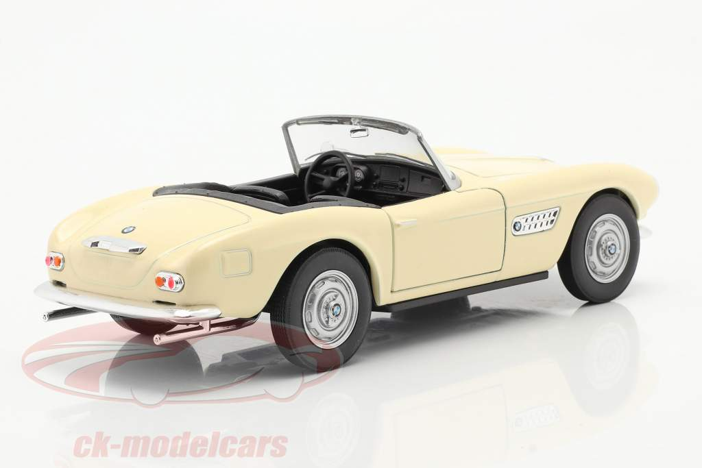 BMW 507 Convertible Open Top crema blanco 1:24 Welly