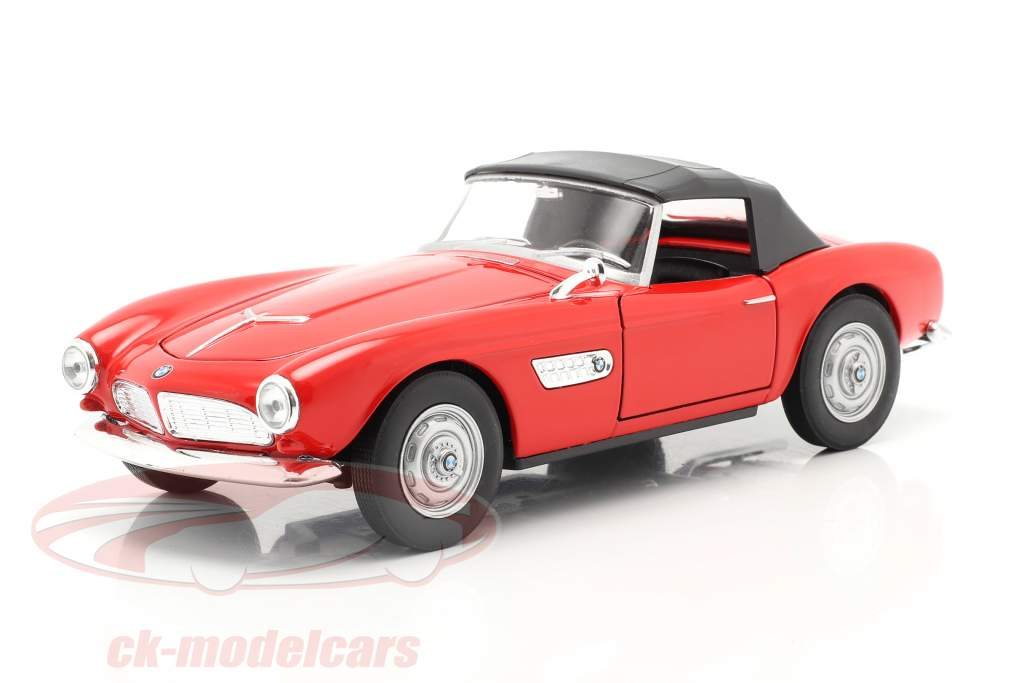 BMW 507 Closed Soft Top rojo 1:24 Welly