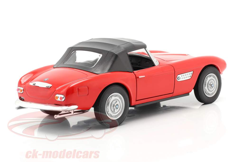 BMW 507 Convertible Closed Soft Top rouge 1:24 Welly