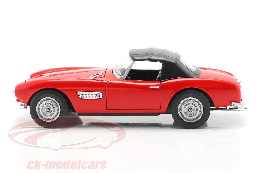 BMW 507 Closed Soft Top rosso 1:24 Welly