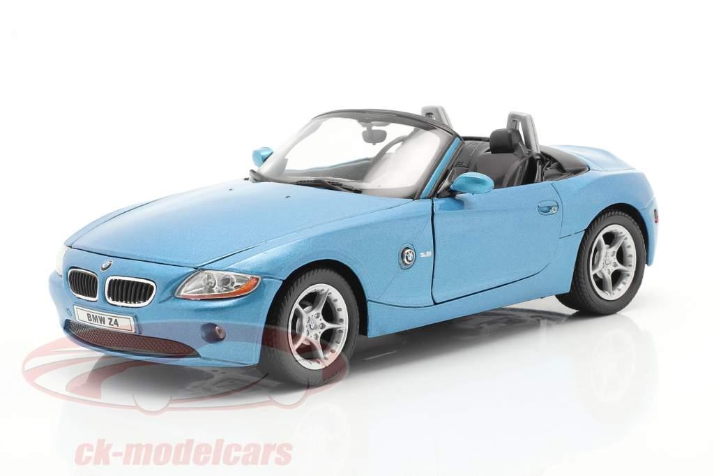 BMW Z4 Bouwjaar 2009 blauw metalen 1:24 Welly