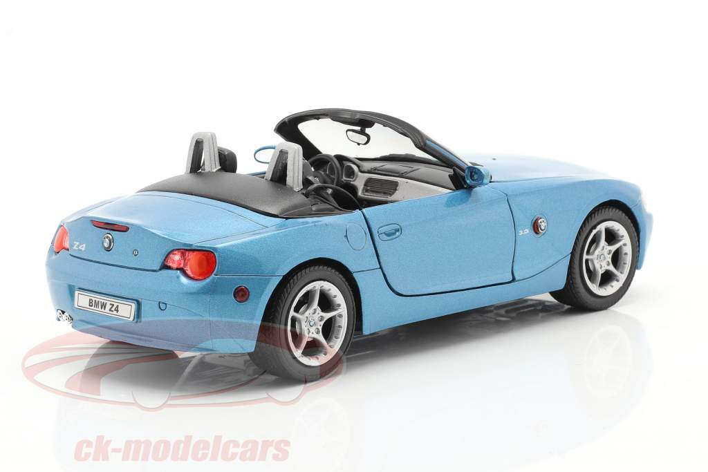 BMW Z4 year 2009 blue metallic 1:24 Welly
