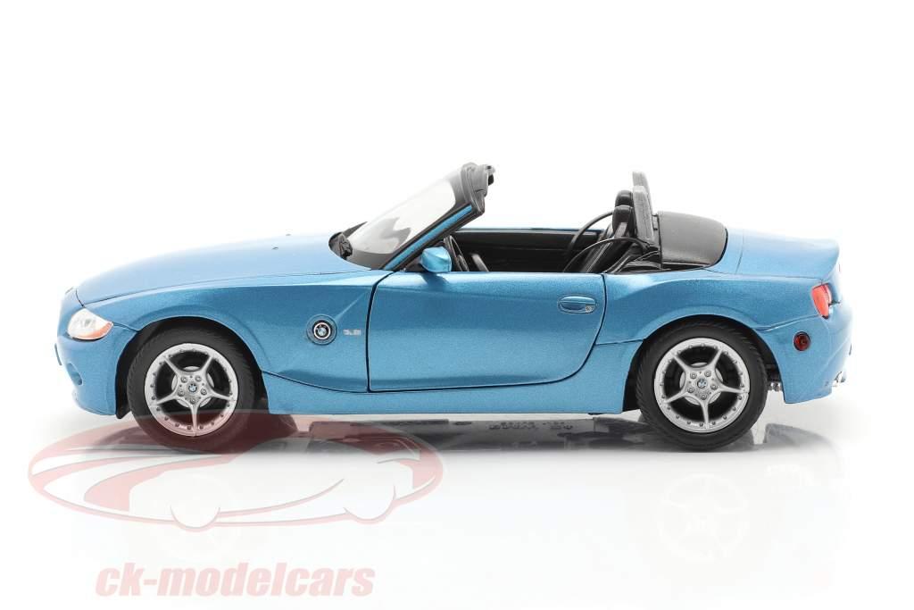 BMW Z4 Anno di costruzione 2009 blu metallico 1:24 Welly