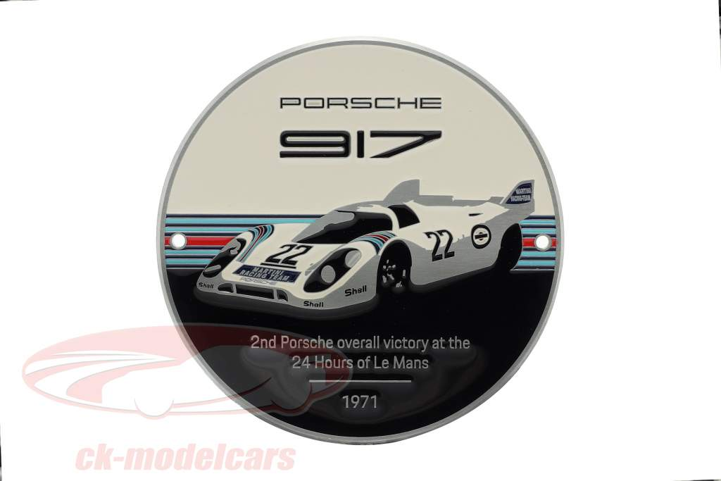 plak Gitter Porsche 917K Martini #22 vinder 24h LeMans 1971