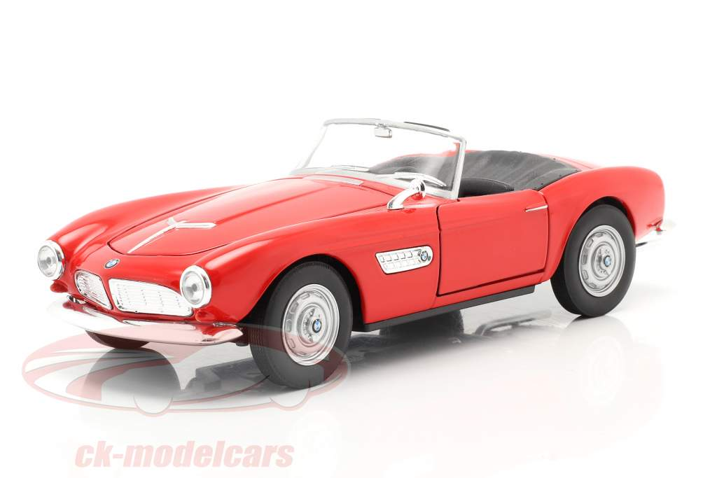 BMW 507 Cabrio Open Top rood 1:24 Welly