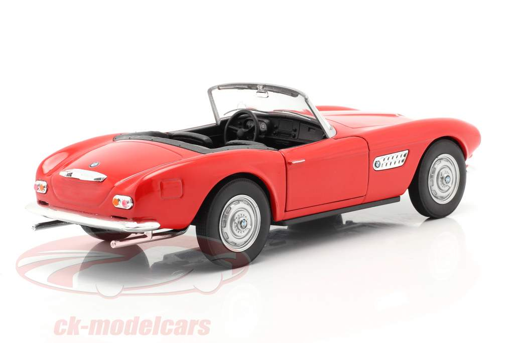 BMW 507 Convertibile Open Top rosso 1:24 Welly