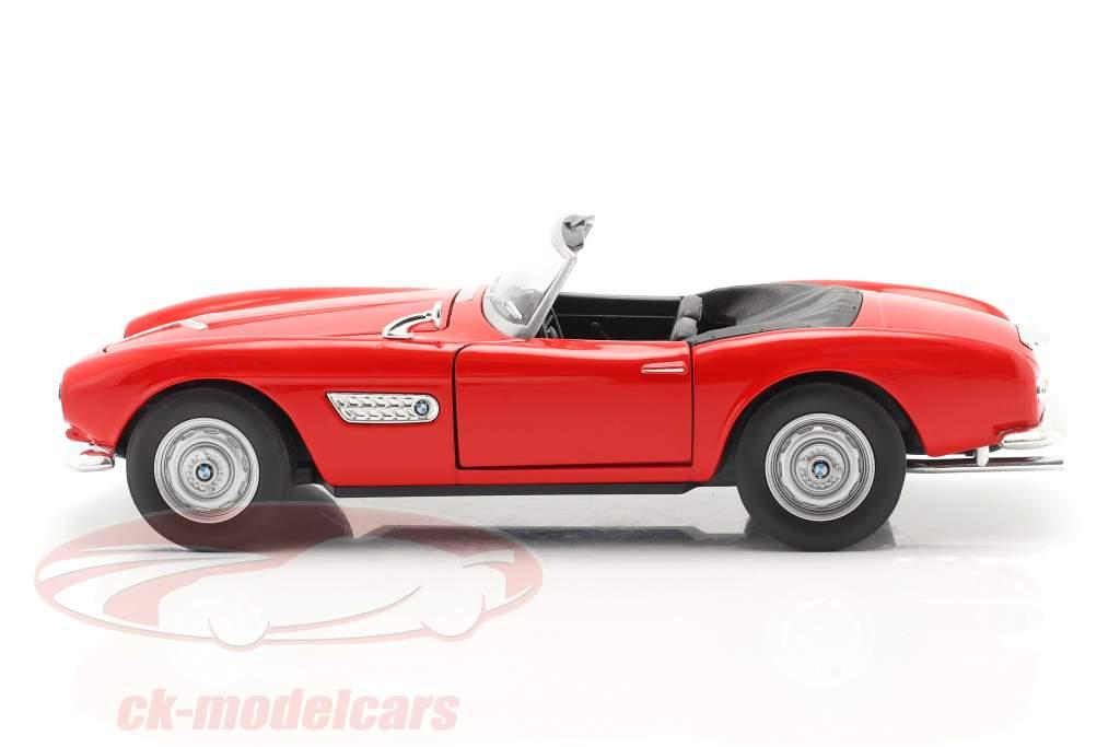 BMW 507 Cabriolet vermelho 1:24 Welly