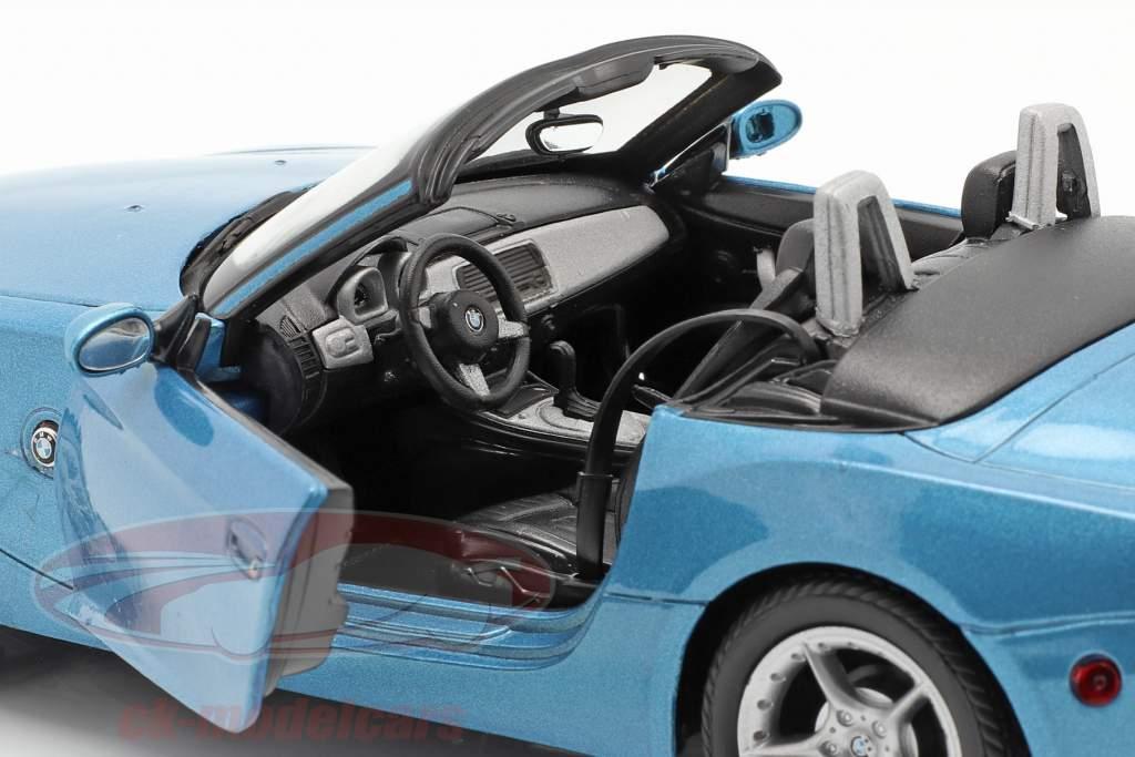 BMW Z4 Année de construction 2009 bleu métallique 1:24 Welly