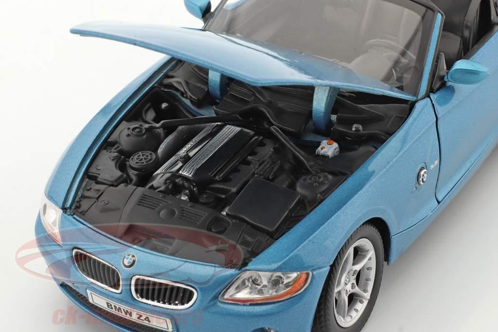 BMW Z4 Baujahr 2009 blau metallic 1:24 Welly