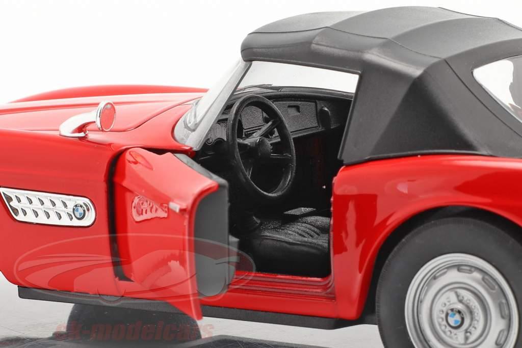 BMW 507 Cabriolet Closed Soft Top rød 1:24 Welly
