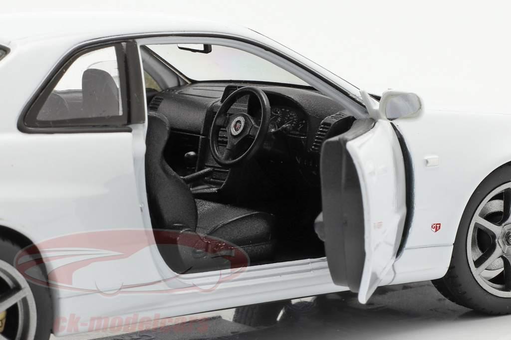 Nissan Skyline GT-R (R34) hvid 1:24 Welly