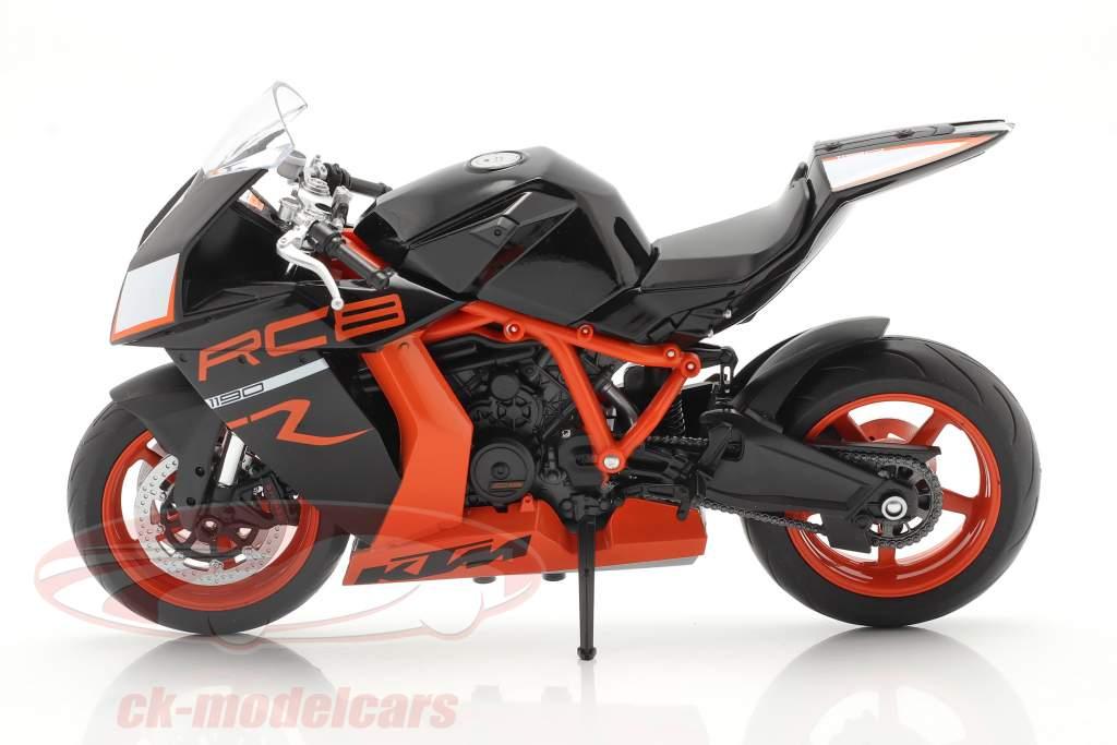 KTM 1190 RC8 R nero / arancia 1:10 Welly