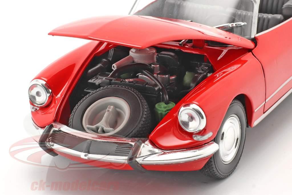 Citroen DS 19 Åben Cabriolet rød 1:24 Welly