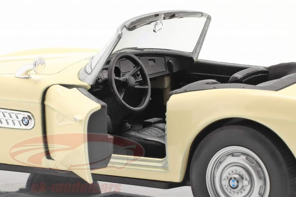 BMW 507 Cabriolet Open Top fløde hvid 1:24 Welly