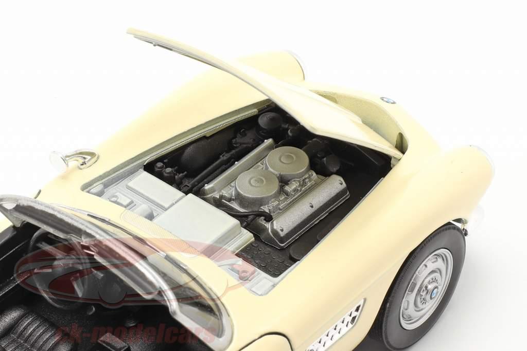 BMW 507 Convertibile Open Top crema bianca 1:24 Welly