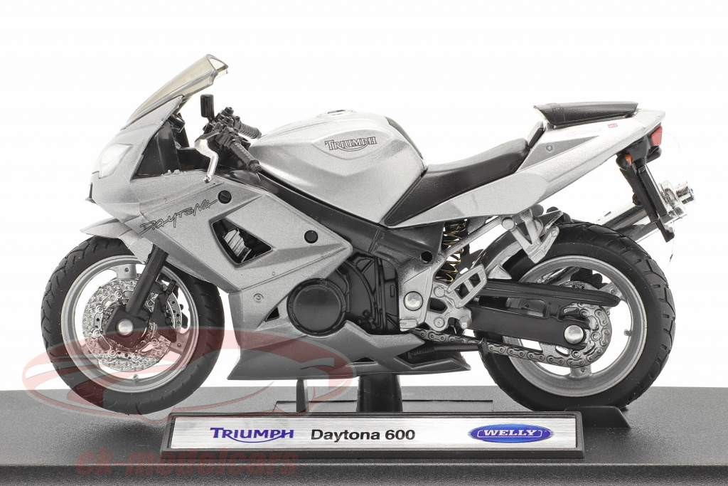Triumph Daytona 600 argent 1:18 Welly
