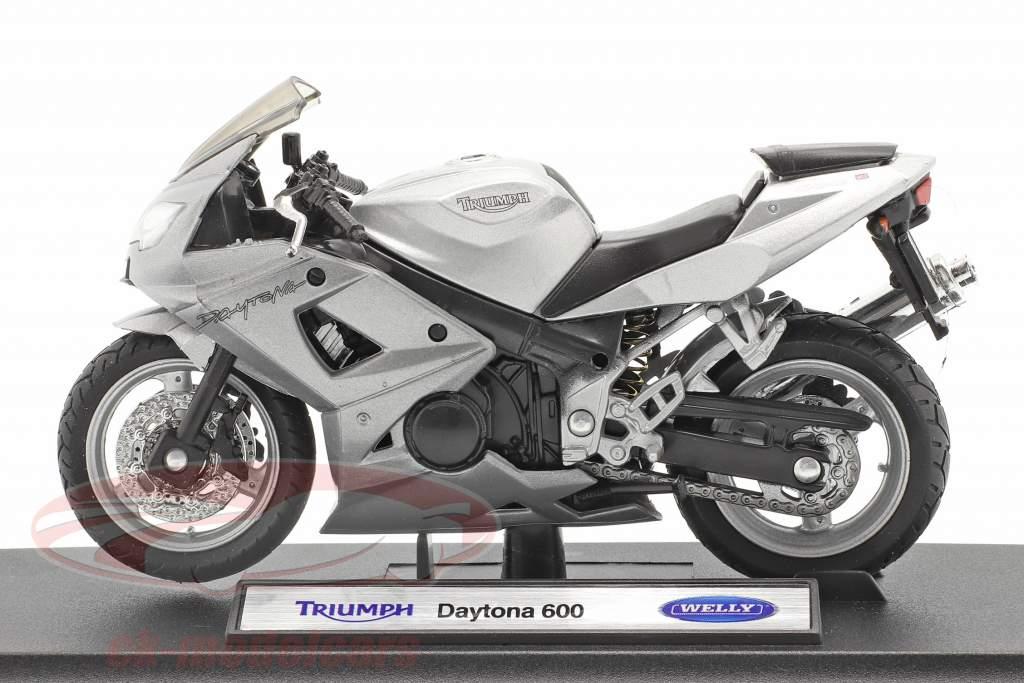 Triumph Daytona 600 prata 1:18 Welly