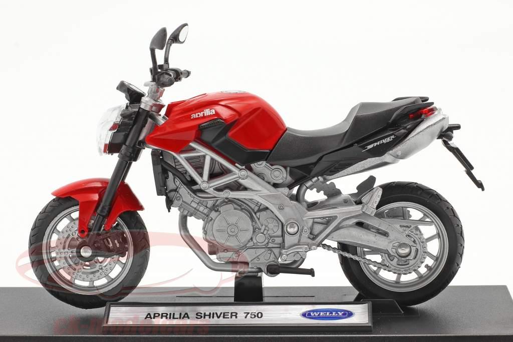 Aprilia Shiver 750 vermelho 1:18 Welly