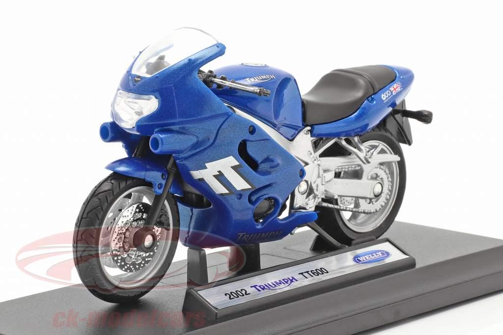 Triumph TT600 Anno di costruzione 2002 blu 1:18 Welly