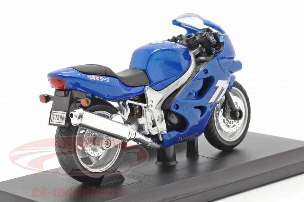 Triumph TT600 Byggeår 2002 blå 1:18 Welly