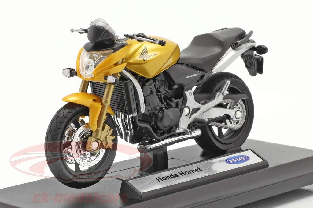 Honda Hornet amarelo 1:18 Welly