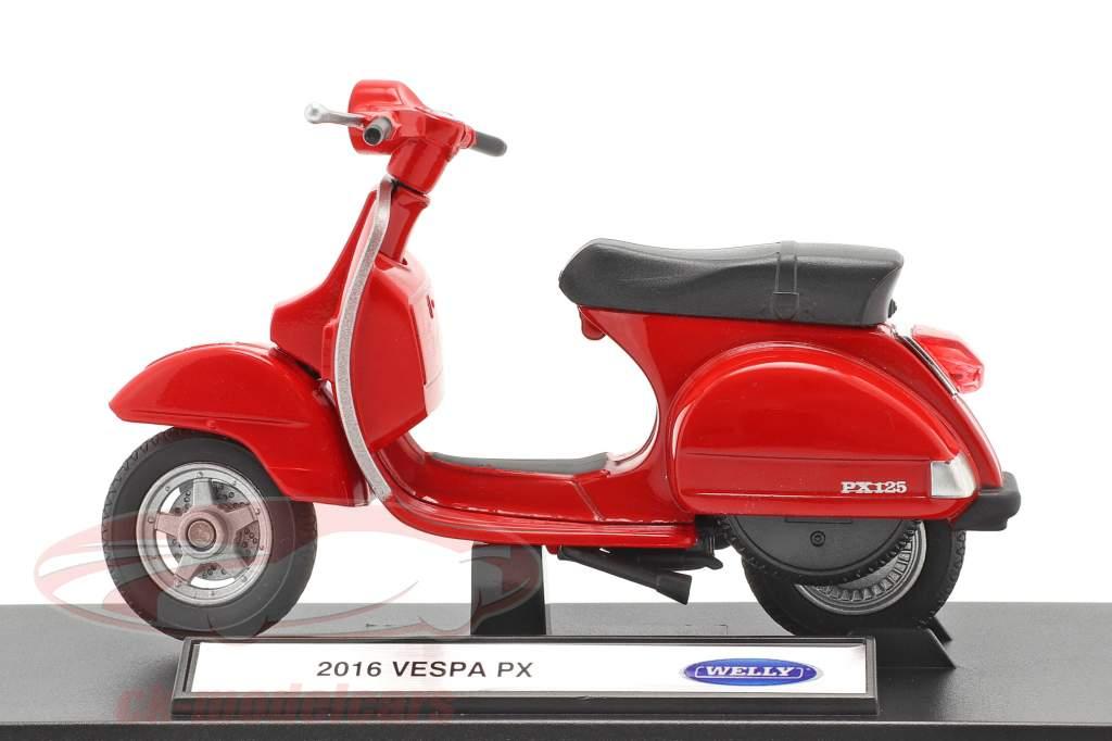 Vespa PX Année de construction 2016 rouge 1:18 Welly