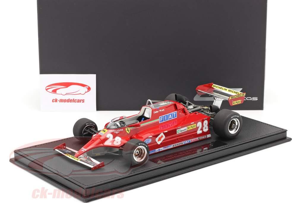 Didier Pironi Ferrari 126CK #28 formula 1 1981 with showcase 1:18 GP Replicas