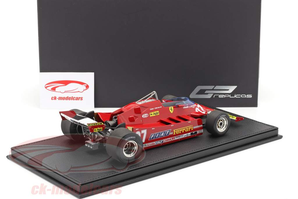 G. Villeneuve Ferrari 126CX #27 Øve sig USA vest GP formel 1 1981 1:18 GP Replicas