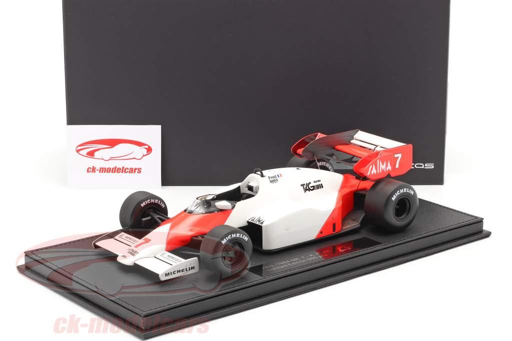 Alain Prost McLaren MP4/2 #7 formule 1 1984 1:18 Avec Vitrine GP Replicas